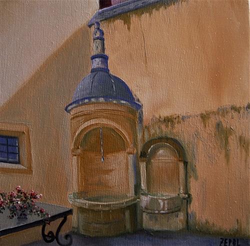 Cour de la maison du chamarier 30x30 2